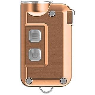 Nitecore Schlüsselanhänger Tini, 380lm, sehr klein, USB, wiederaufladbar, LED-Taschenlampe, Blau, TINI, Kupfer