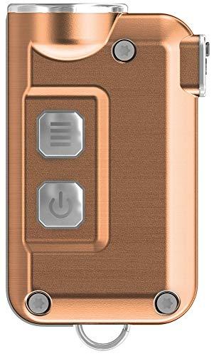 Nitecore Schlüsselanhänger Tini, 380lm, sehr klein, USB, wiederaufladbar, LED-Taschenlampe, Blau, TINI, Kupfer - Taschenlampe Wiederaufladbare Kleine