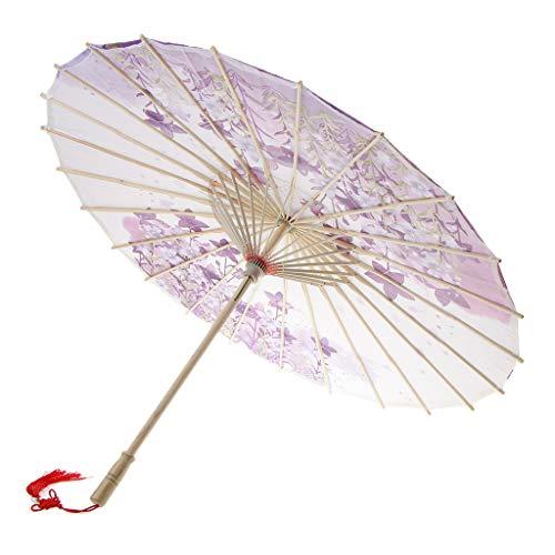 D DOLITY Retro Papierschirm Regenschirm Sonnenschirm Tanz Schirm Deko Schirm, Klassischer Chinesischer Muster - 3