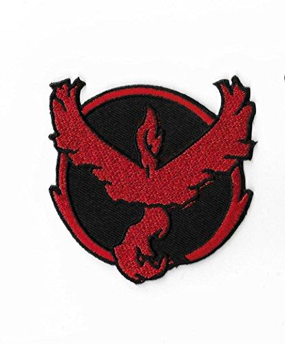 Pokemon Go Team Valor Logo Patch Nähen oder Bügeln bestickt auf Badge Aufnäher Souvenir Retro DIY Kostüm Team Mystic (Pikachu Kostüm Diy)