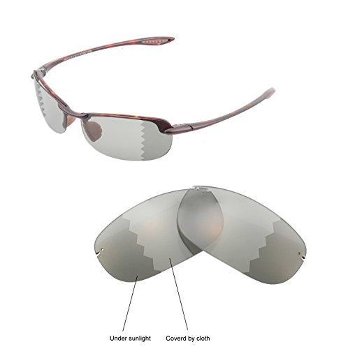 Walleva Ersatzgläser für Maui Jim Makaha Sonnenbrille - Mehrfache Optionen (Übergang / Photochromisch - Polarisiert)