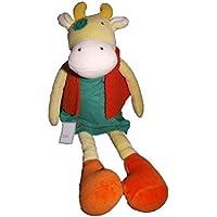 Preisvergleich für Moulin Roty Kuscheltier Moulin Roty Kuh Margerite, Gelb Kleid Grün Jacke Orange–2070
