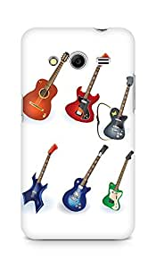 Amez designer printed 3d premium high quality back case cover for Samsung Galaxy Core 2 (Guitar Designs)