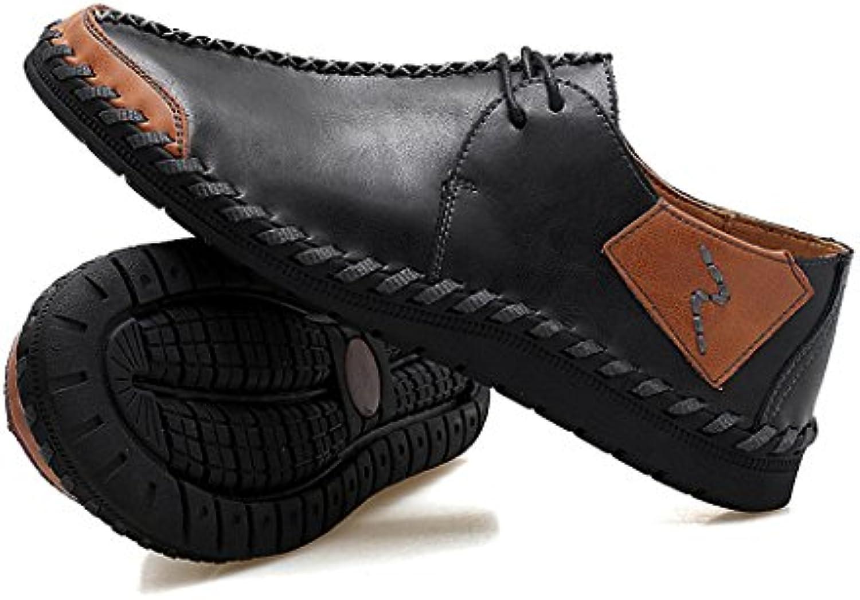 GAOLIXIA Zapatos de Negocios de Cuero Genuino de los Hombres Zapatos Formales Zapatos de Trabajo de Verano Zapatos...