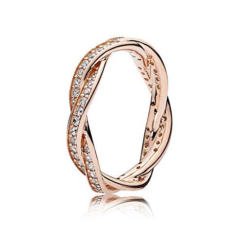 Pandora Damen-Ringe zum Jahrestag Silber_vergoldet mit \'- Ringgröße 52 (16.6) 180892CZ-52