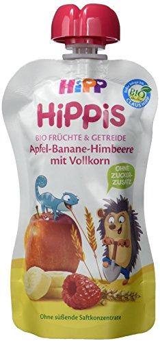 HiPP Apfel-Banane-Himbeere mit Vollkorn - Ingo Igel, 6er Pack (6 x 100 g)