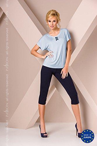 Leidenschaft/Manschette S abgeschnitten Bein Pyjamas S/M/L/XL blau * Navy