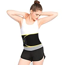 Cinturón Ajustable Fitness Faja adelgazante pérdida de peso cinturón para hombres y mujeres, fortalecer Tummy ABS, quemado calorías, prevención de lesiones y dramático alivio del dolor