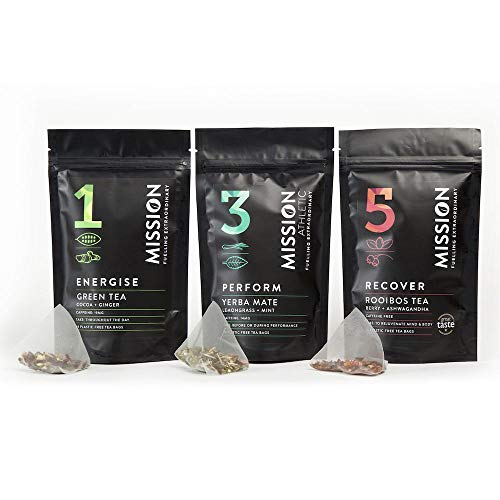 Mission - Team Pyramid Pack - 42 Biodegradable Pyramid Tea Bags – Energise, Perform and Recover
