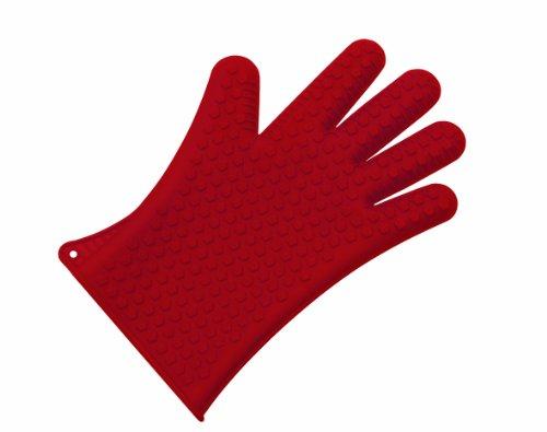 Lacor 60034 - Guante silicona 5 dedos 27 cm, rojo width=