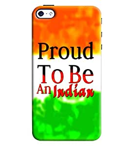 Clarks Proud To Be An Indian Hard Plastic Printed Back Cover/Case For Apple iPhone 4/4S