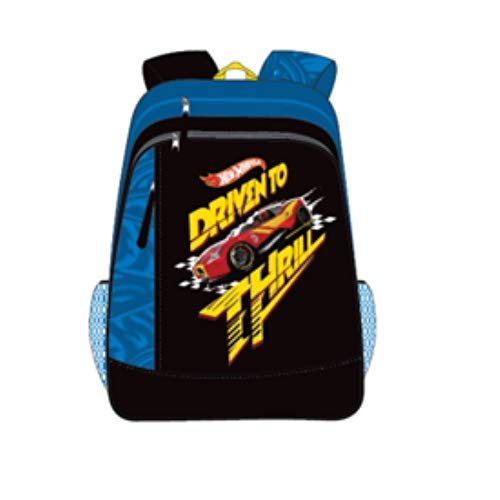 Hot Wheels Black School Backpack (MBE-MAT412)