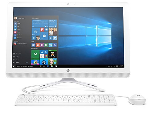 HP 22-b050ng (X0Y27EA) 54,6 cm (21,5 Zoll/FHD IPS) All in One Desktop PC (AMD Quad-Core A6-7310 APU, 4GB RAM, 1 TB HDD, AMD Radeon R4-Grafikkarte, Windows 10 Home 64) Weiß