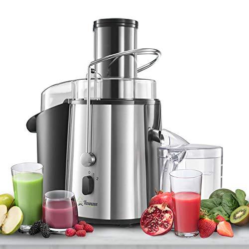 ⭐Licuadoras para Verduras y Frutas - Gran Potencia (850 W) y 2 Velocidades - Licuadora Exprimidor Zumo Gran Apertura (75 mm), Patas Antideslizantes y CE - Juicer Extractor de Jugo de Verduras y Frutas