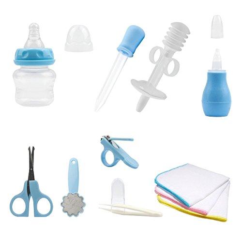 Lantelme 5661 Babypflegeset in blau mit Baby Waschlappen