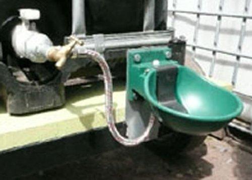 Heizbare Tränke mit Niederdruckventil MIT ZUBEHÖRSET für IBC Tank / Container # Tränkebecken # Tränke für Rinder / Kühe, Pferde