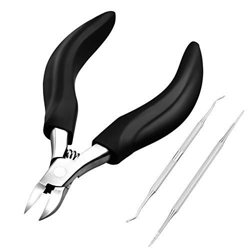 Fußnagelzange Set, ATMOKO Nagelzange Set Edelstahl Fußnagel Knipser Scharfe Klinge für Dicke und Eingewachsene Fußnägel, Paronychie, Onychomykose, Nagelpilz, Eingewachsene Nagelzange Kit