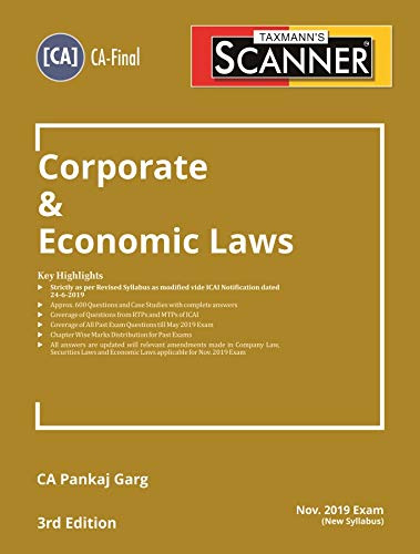 Scanner-Corporate & Economic Laws (CA-Final)(Nov 2019 Exam-New Syllabus)(3rd Edition July 2019)