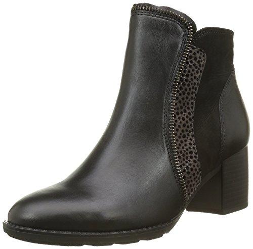 Gabor Shoes 55.680 Damen Kurzschaft Stiefel, Mehrfarbig (Schwarz/Zinn(Micro 27), 37.5 EU (4.5 Damen UK) (Am Ankle Besten Boots)