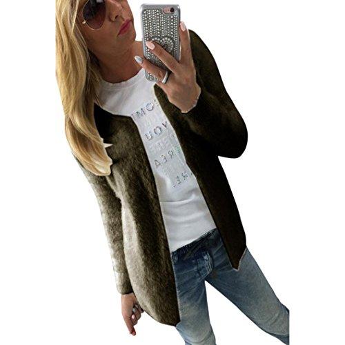 """Elegante Maglioni , Reasoncool Donna sportiva Solid maniche lunghe Jumper Maglioni Camicia (S-Busto:33.0"""", Esercito Verde)"""