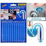 Abflussreiniger Sani Sticks Rohrreiniger Enzymreiniger - für verstopfte Rohre in Küche, Bad und Dusche Drain Cleaner (12 Stück)