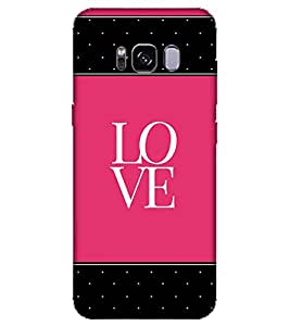 For Samsung Galaxy S8 Edge love ( ) Printed Designer Back Case Cover By CHAPLOOS