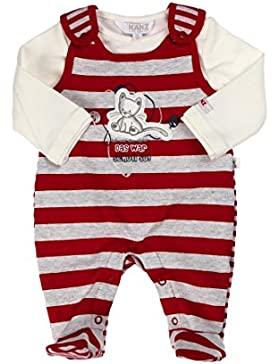 Kanz Unisex - Baby Bekleidungsset Strampler + T-Shirt 1/1 Arm, Gestreift