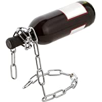 Golden Seeds Argento Catena Lasso Portabottiglie Wine Bottle Holder Magia di vino Laccio