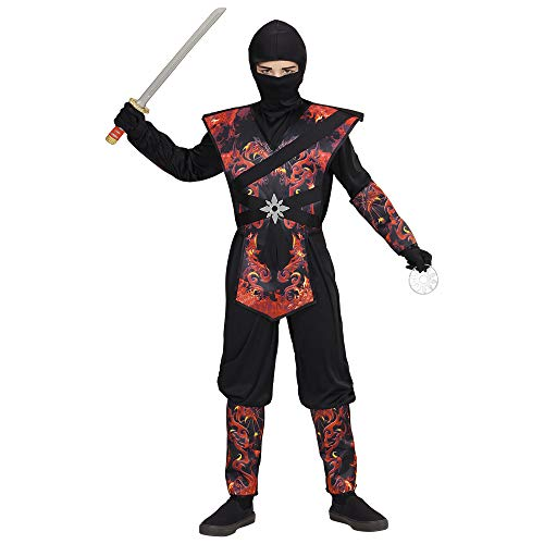 Widmann 05638 Kinderkostüm Ninja, 158 cm