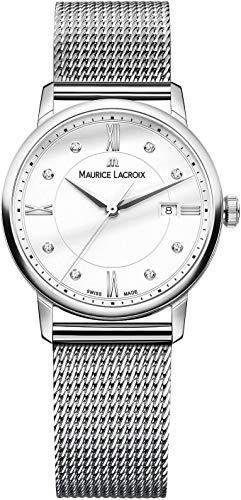 Maurice Lacroix Damen Analog Quarz Uhr mit Edelstahl Armband EL1094-SS002-150-2