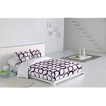 Sabanalia Aros - Juego de funda nórdica (disponible en varios tamaños y colores), para cama 135, color lila