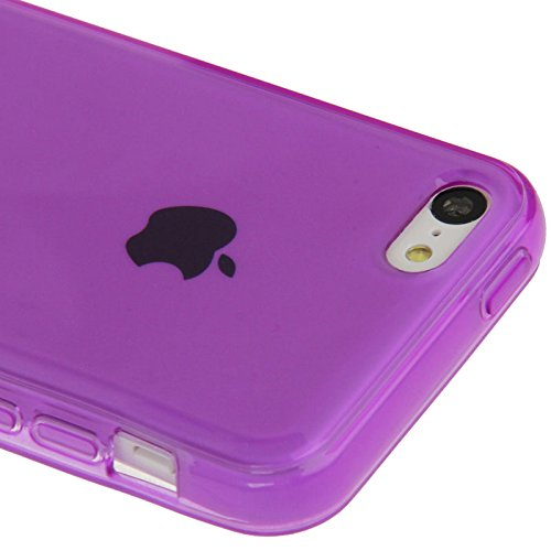 XAiOX® Apple iPhone 5 C coque en TPU silicone Housse Coque Case Bumper lilas