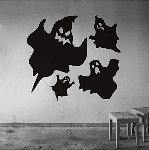 WFYY Scary Ghosts Halloween Party Moderne Fenster Wandaufkleber Für Schlafzimmer Wohnzimmer Dekoration Zubehör Wasserdichte Tapete 44X40 cm