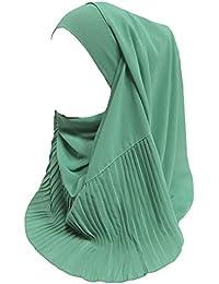 f7dc03991ce2 Lina   Lily Écharpe Hijab pour Femme Musulmane en Plisser Mousseline ...