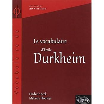 Le vocabulaire de Emile Durkheim