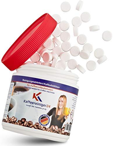 K Kaffeereiniger24 I 200 Reinigungstabletten für Kaffeevollautomaten je 2g - Hochwertige Reinigungstabs geeignet für Jura, Siemens, Melitta, Krups uvm. - Made in Germany