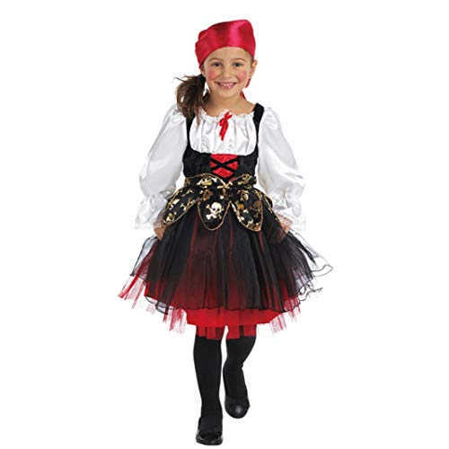 Mottoland Kinder Kostüm Piratin Seeräuber Mädchen Fasching Karneval Verkleiden: Größe: - Piraten Der Karibik Girl Kostüm