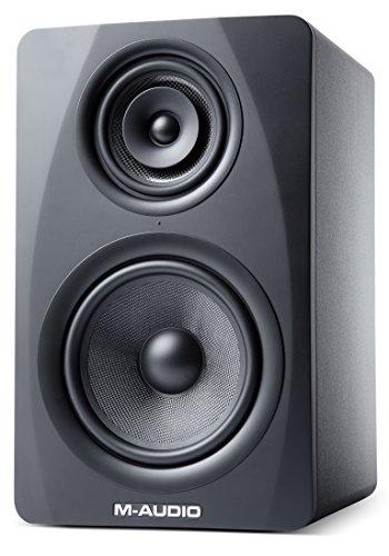 M-Audio M3-8 Black Aktiver 3-Wege Studiomonitor mit Tri-Amp Class A/B Konzept, 220W (insgesamt), 1 Stück