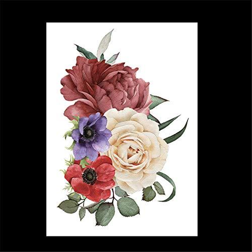 zgmtj wasserdichte Tätowierungsaufkleber des Blumenarms Halloween-Tätowierungsaufkleber HB-661 148 * 210MM