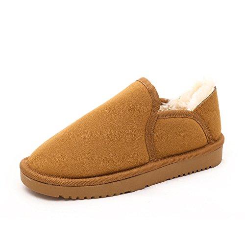 FLYRCX In autunno e in inverno, scarponi da neve e gli uomini e le donne della moda anti-skid cashmere dense e calde scarpe dimensione europea: 35-43 D
