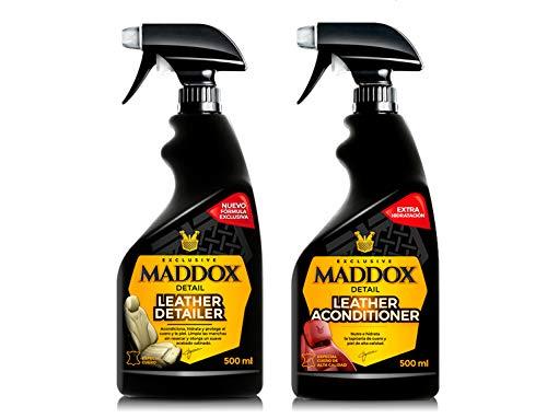 Maddox Detail - Leather Care Kit - Limpiador y acondicionador de cuero...