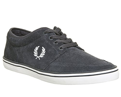 Fred Perry Stratford Suede, Scarpe Stringate Oxford Uomo Charcoal Snow White
