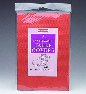 Paper Tablecover Red Pack of 2 for Disposable Party Tableware