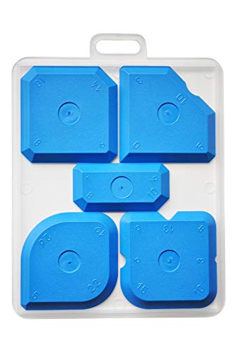 Fugenglätter - Profi Fugenabzieher Set für Silikon, Silikonfugen und Acryl | Fugenspachtel | Glättspachtel (blau)