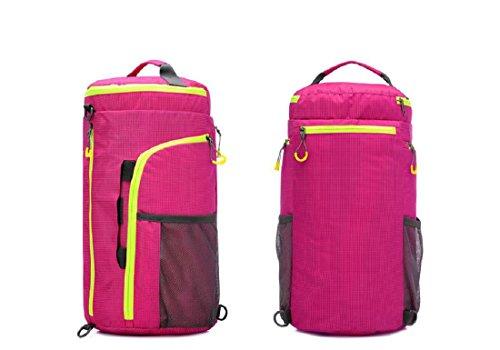 All'aperto borsetta Zaino Sacchetto del messaggero Cilindro Borsa da viaggio multifunzione arrampicata Movimento Zaino , pink Pink
