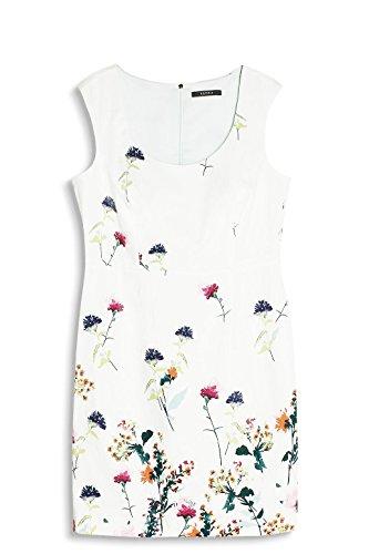 ESPRIT Collection Damen Kleid 057eo1e007 Weiß (Off White 110)