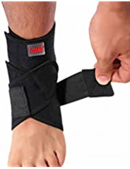 Panegy Adjustable Ankle Protective Strap Breathable Ankle Guard Support Adjustable Flexible Compression Protector - Black by Nailekesi