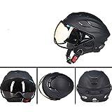 Motorrad-Moto-Helme Der Männer Beschlagfrei Helm-Warmer Motorcross-Helm (56-62 Cm),A-55~60cm