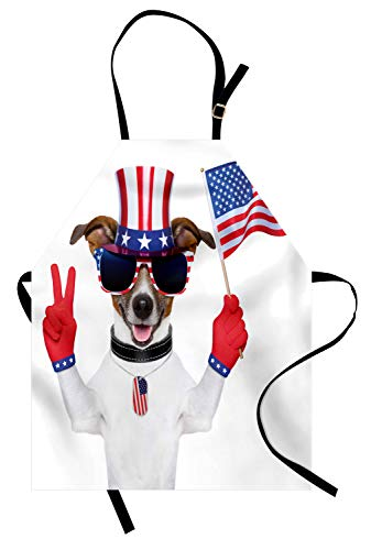 Onkel Sam Hats - ABAKUHAUS 4. Juli Kochschürze, Lustiger Schoßhund