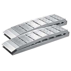 Wiltec 2x Rampe Di Carico Pieghevoli In Alluminio Per Moto